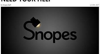 Internetts eldste nettsted for faktasjekk holder på å gå dukken: Snopes ber leserne om penger for å overleve