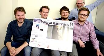 Minerva får 1,3 millioner kroner i pressestøtte. Medietilsynet gir fem nye medier produksjonsstøtte