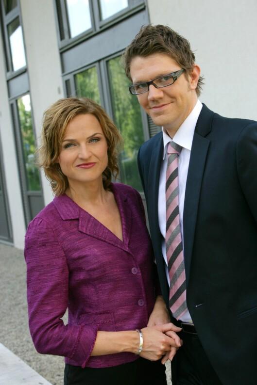 Den gang da i 2005: Christine Præsttun og Rune Alstadsæter var programledere for den nye valgsatsingen «Ærlig talt» på NRK..