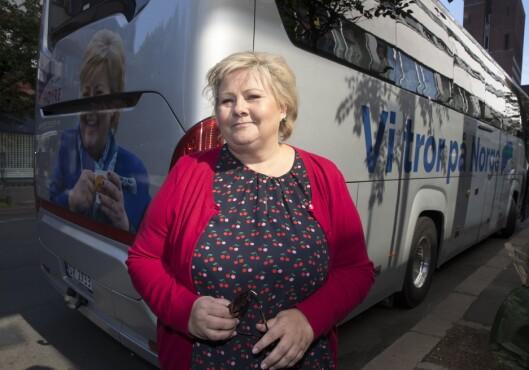 Statsminister Erna Solberg startet sin valgkamp fra Oslo. Alstadsæter sin jobb blir å sørge for at hun og partiet skinner..