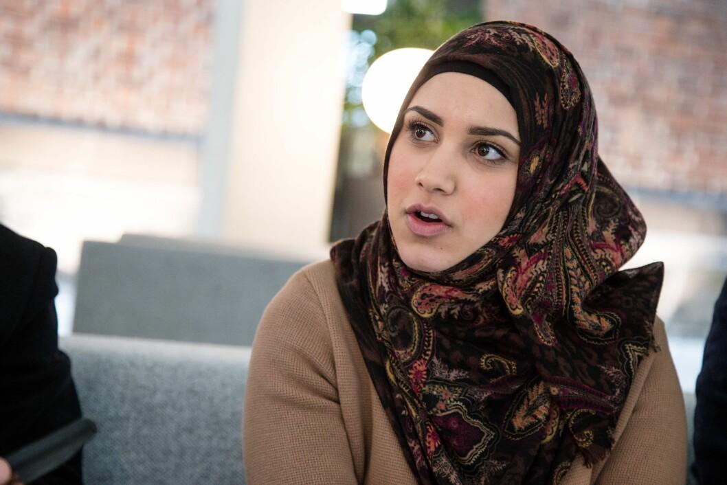 Faten Mahdi Al-Hussaini - her i forbindelse med organisasjonen JustUnity og et møte hos statsminister Erna Solberg i 2015.