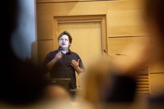 I 2013: Forfatter og journalist Lars Akerhaug holder innlegg når justisdepartementet holder radikaliseringskonferanse i Oslo