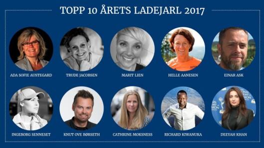 De ti nominerte til årets ladejarl-pris.
