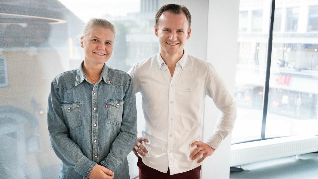 Kristine Støleggen er siste skudd på stammen i TU Story Labs. Her med leder Jørgen Elton Nilsen.
