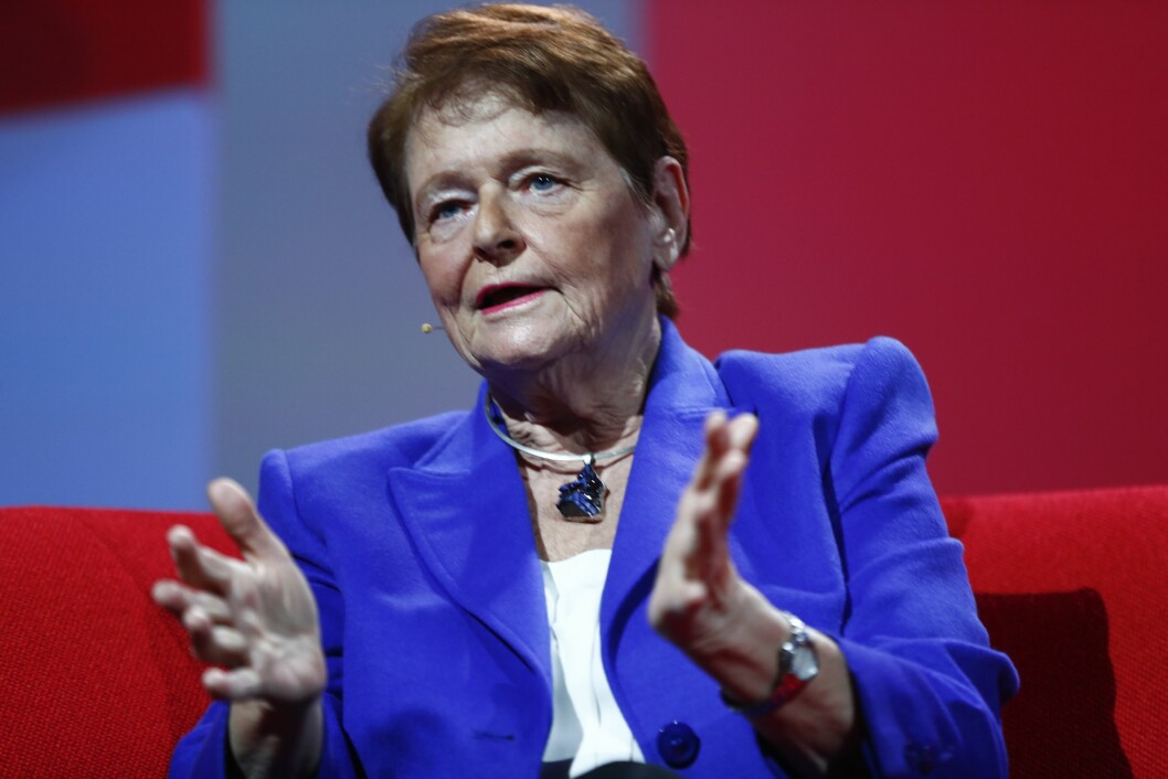 Tidligere statsminister Gro Harlem Brundtland på landsmøtet i Arbeiderpartiet tidligere i år.