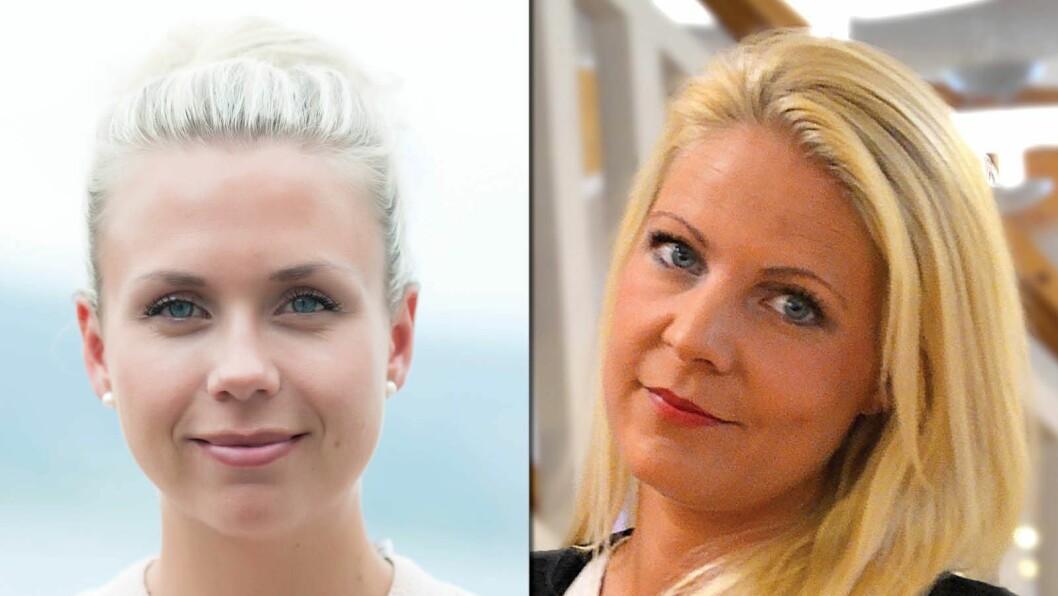Kathrine Saastad og Therese Eriksson til Amedia Salg og Marked.