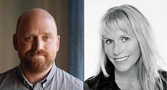 Skal støtte og styrke den lokale journalistikken: Stine Holberg Dahl og Kjetil Høiby til Amedia innholdsutvikling