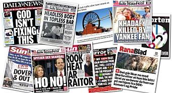 Du vil ikke tro disse overskriftene: Her er de 10 beste avistitlene verden har sett