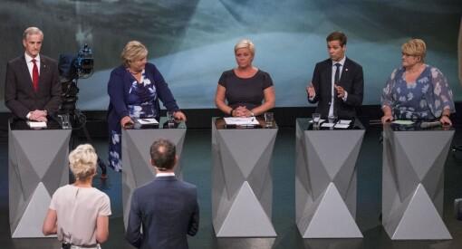 Valgkampen engasjerer: 747.000 fikk med seg partilederdebatten mandag kveld. Det er flere enn for fire år siden