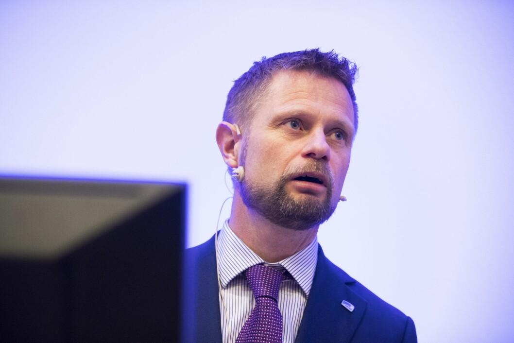 Helse- og omsorgsminister Bent Høye deltar i debatten onsdag. Her i en annen sammenheng.