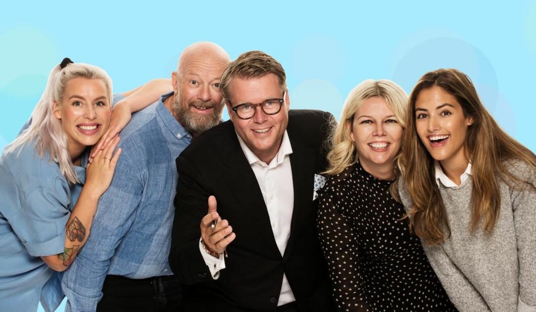 Den «nye» Morgenklubben, fra venstre: Thea Hope, Geir Schau, Øyvind Loven, Annette Walther Numme og Samantha Skogrand.