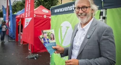Presseveteran, journalistlærer og Venstre-politiker Carl-Erik Grimstad kjemper for plass på tinget