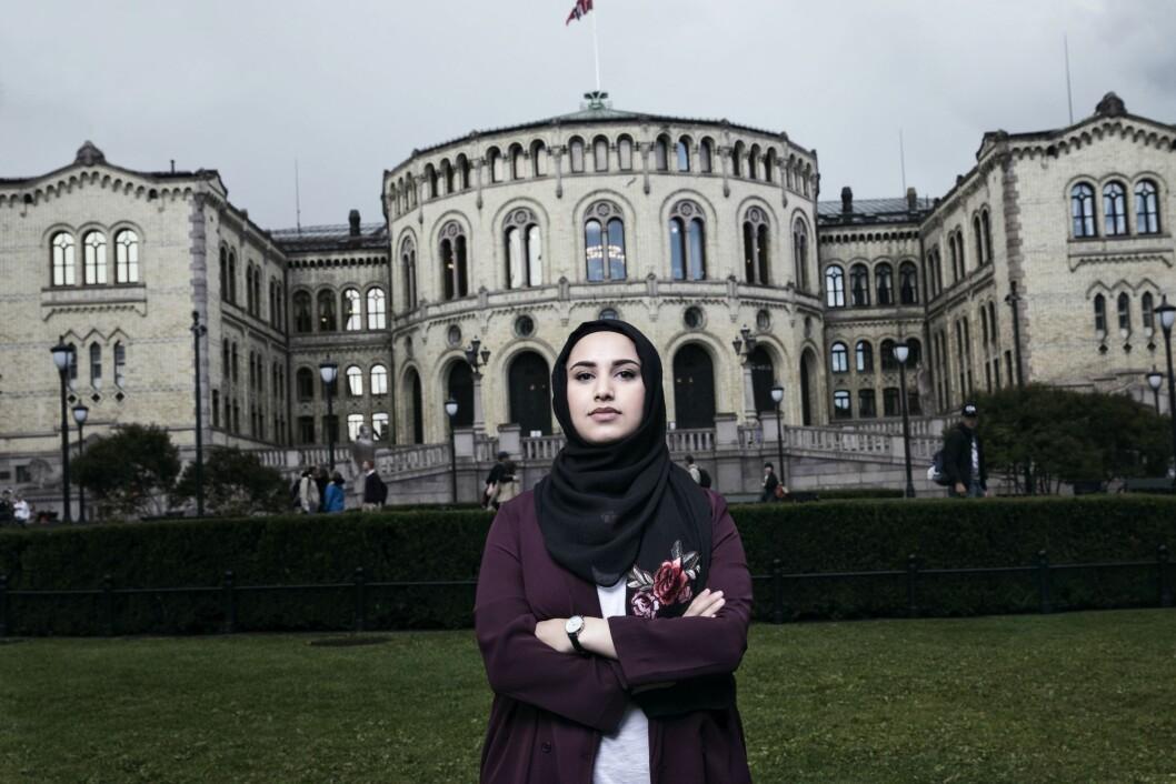 Faten Mahdi Al-Hussaini skal lede «Faten tar valget» - et program som har fått tusenvis av klager før det i det hele tatt kommer på lufta.