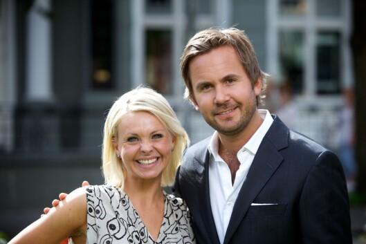 Marthe Sveberg og Skal vi danse-kollega Kristian Ødegård på TV 2s høstlansering i 2010.