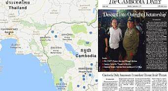 – Dette er et slag mot pressefriheten, mot kritikeres mulighet til å bli hørt og mot demokratiet i Kambodsja