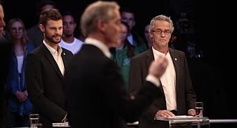 Kanontall for partilederdebatt på TV 2: En halv million så på i går kveld - 50 prosent flere enn for fire år siden