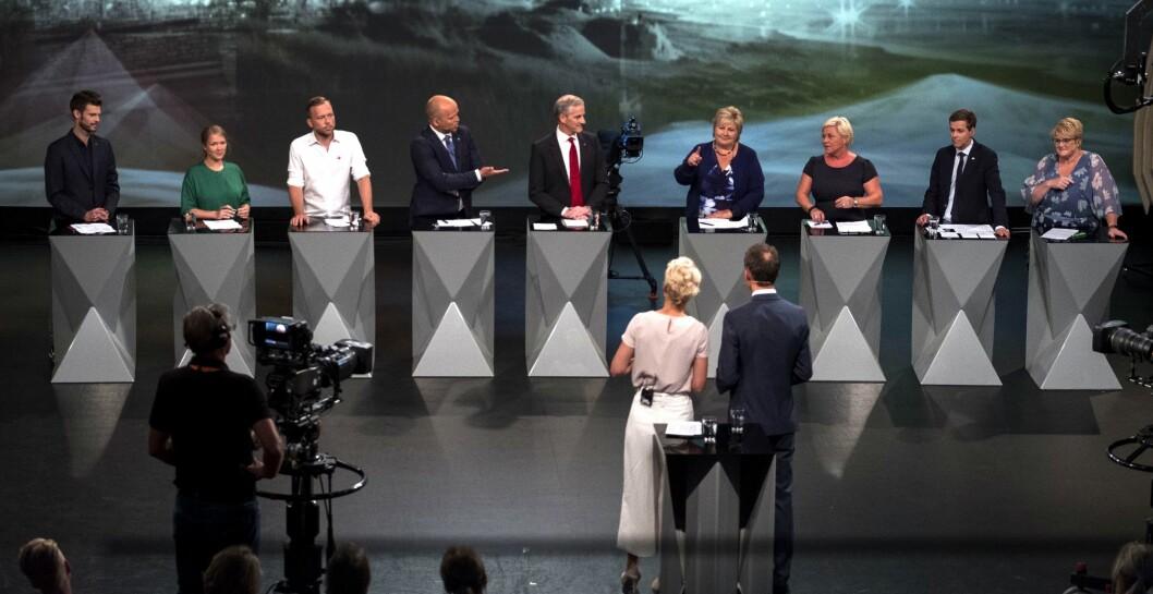Her startet valgkampen for alvor: Partilederdebatten i Arendal mandag 14. august.