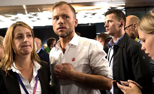 SVs partileder Audun Lysbakken etter NRKs partilederdebatt i Bergen.