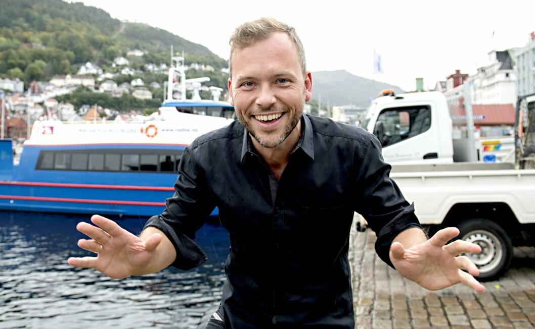 SVs partileder Audun Lysbakken hjemme i Bergen under valgkampinnspurten.