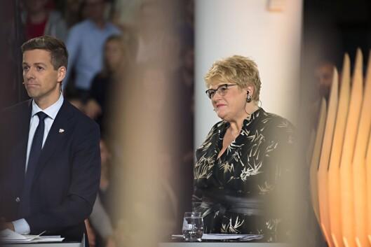 Knut Arild Hareide (KrF) og Trine Skei Grande (Venstre).