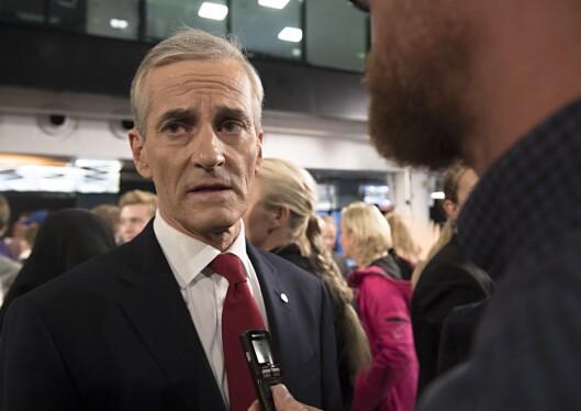 Statsministerkandidat Jonas Gahr Støre etter debatten fredag.