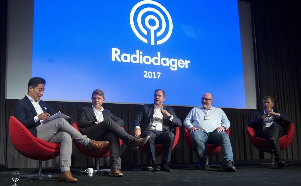 Radiotoppene på debatt under Radiodager tidligere i år.