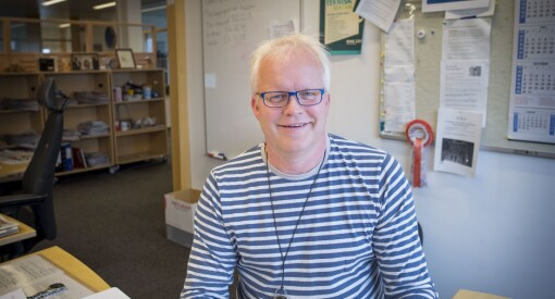 Bjarte (46) har nesten aldri jobbet som journalist. Nå er han blitt vaktsjef for et av Norges viktigste radioprogrammer