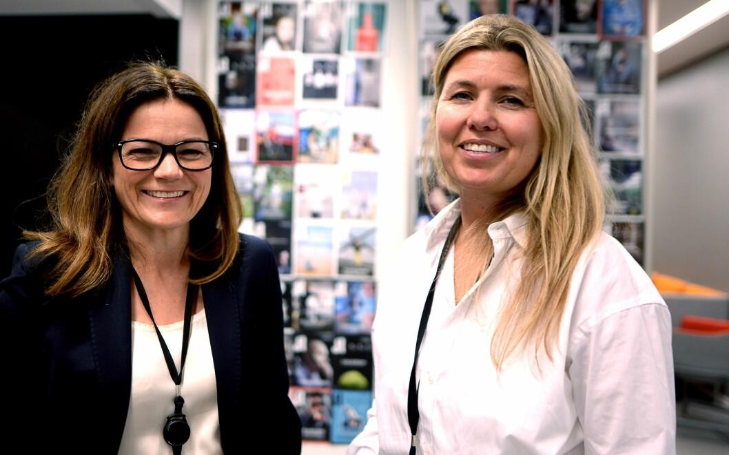 Featureredaktør Lillian Vambheim (til høyre) og Guri Leyell Skedsmo i Aftenposten.