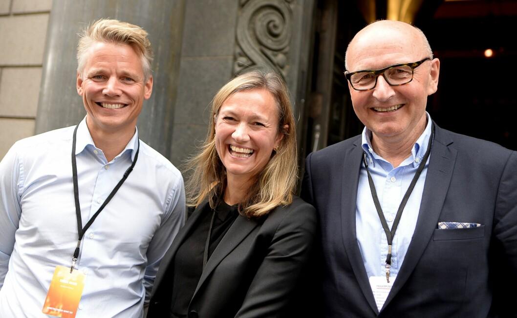 MER OG MINDRE ANSVAR: Sondre Gravir blir sjef for markedsplasser i Schibsted, mens Siv Juvik Tveitnes blir COO (operasjonell direktør) for mediedivisjonen i Norge og Sverige. Schibsted Norge-sjef Didrik Munch går av med pensjon til våren.