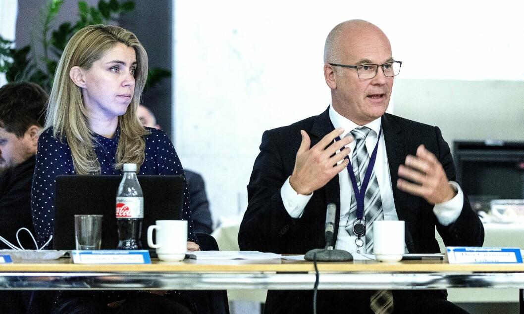Nyhetsdirektør Alexandra Beverfjord og NRK-sjef Thor Gjermund Eriksen under et tidligere møte i Kringkastingsrådet.