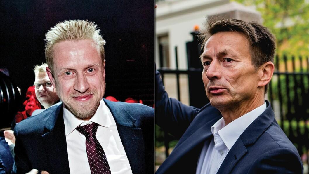 Faktisk-redaktør Kristoffer Egeberg (t.v.) og Aps sekretariatsleder Hans Kristian Amundsen.
