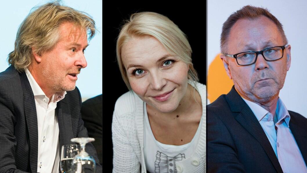 Fra venstre: Torry Pedersen, Hildegunn Amanda Soldal og John Arne Markussen.