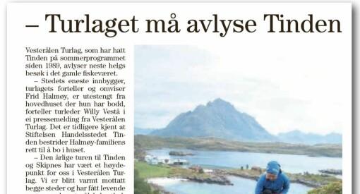 Bladet Vesterålen felt i PFU for dobbeltroller: Opplyste ikke at avsender for pressemelding om lokal konflikt også var avisas redaktør