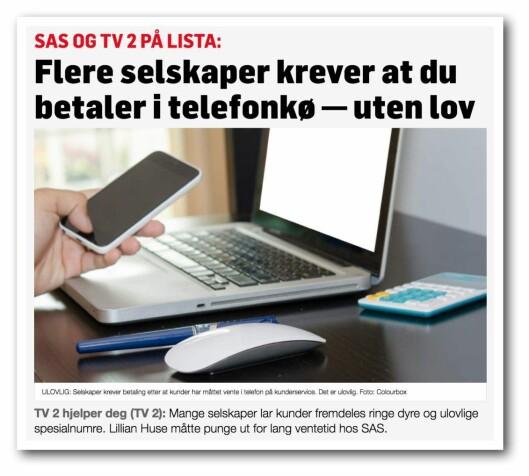 Fra TV2.no torsdag morgen.