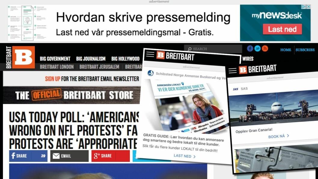 Mynewsdesk, SAS og Schibsted på Breitbart.
