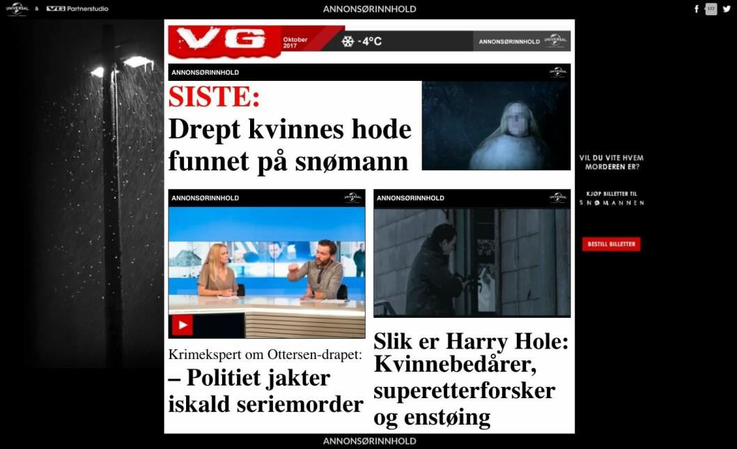 Er dette greit? Ja, mener VG-ledelsen og Partnerstudio. Nei, mener klubbleder Tor-Erling Thømt Ruud.
