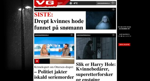 Sjekk hvordan reklamen får lov til å etterligne hele VG-fronten. Klubbleder vurderer å klage sin egen avis til PFU