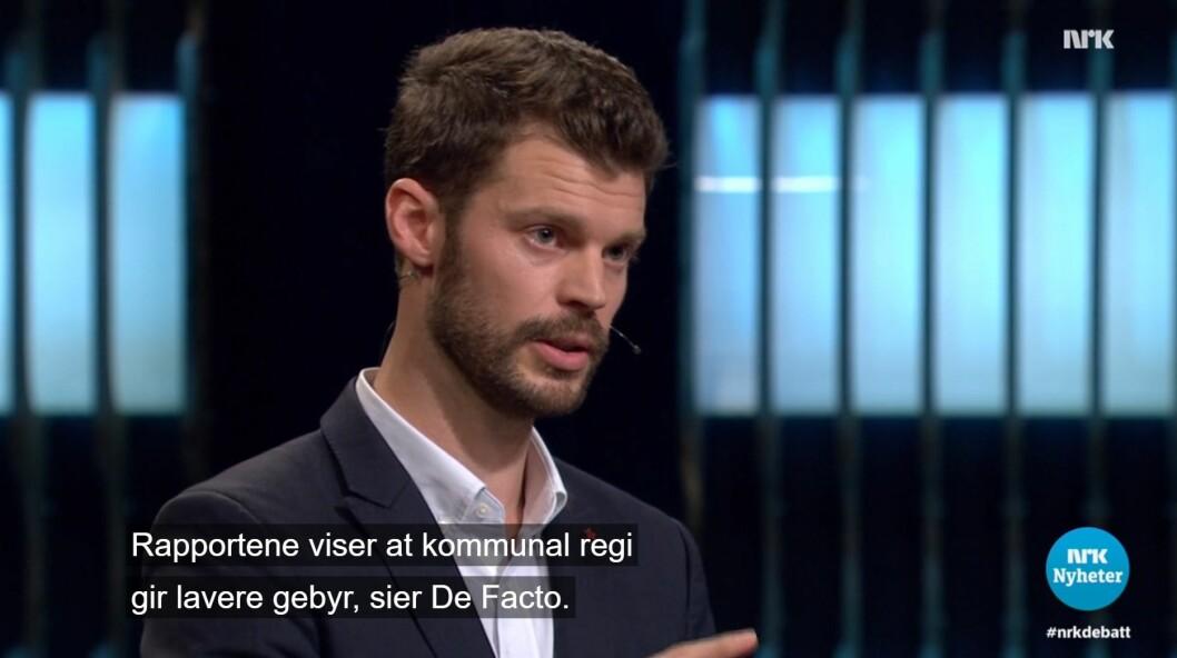 Partileder Bjørnar Moxnes under NRKs Debatten tok torsdag 21. september.