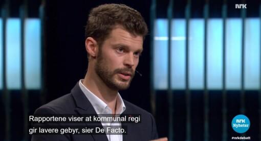 Partileder Bjørnar Moxnes i Rødt tar delvis feil under direktesendt søppeldebatt på NRK
