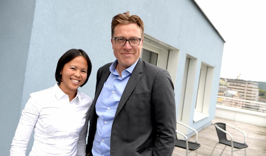 Markedssjef Janice Gundersen og gründer Tom Roger Sokki - to av stadig flere ansatte i Lavo.