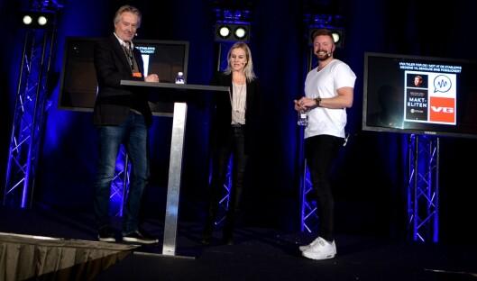 Torry Pedersen og Even-Aas Eng i debatt - med Margrethe Wam Solvang fra Google som debattleder.