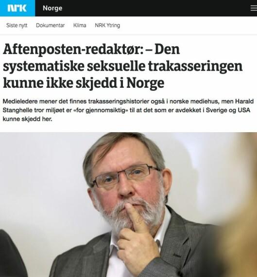 Fra NRK mandag kveld.