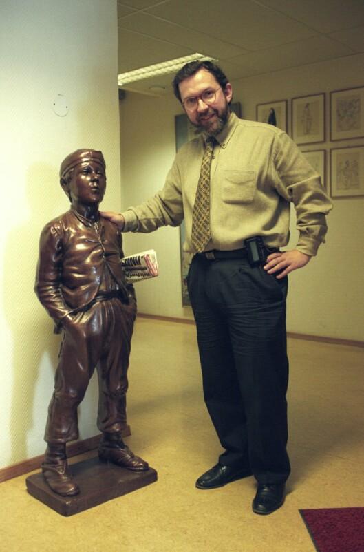 Harald Stanghelle - her som fersk sjefredaktør i Dagbladet i 1995.