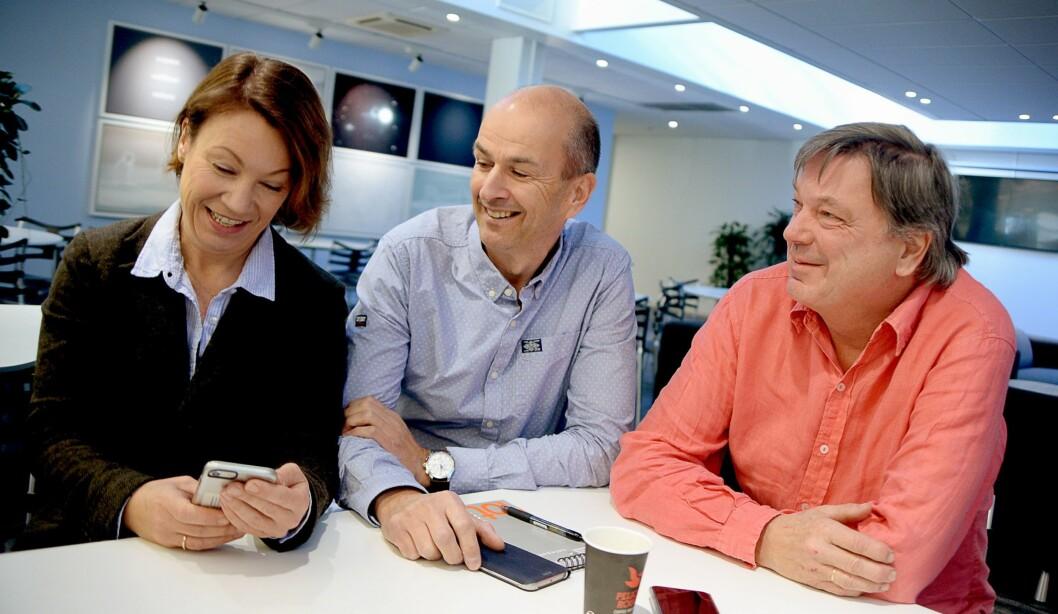 Fornøyde Budstikka-ledere, fra venstre: Sjefredaktør Kjersti Sortland, markedsdirektør Trond Jørgensen og administrerende direktør Terje Tandberg.