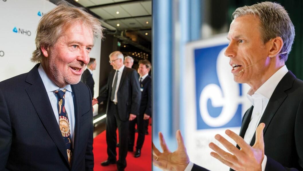 Publistisk direktør Torry Pedersen i Schibsted Media, og konsernsjef Rolv-Erik Ryssdal i Schibsted ASA.