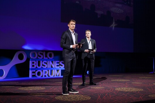 Oslo Business Forum- gründerne Christoffer Omberg, Marius Røed Wang.