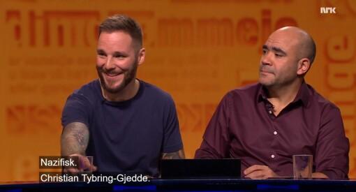 Seerstorm mot Nytt på nytt: NRK har fått 540 klager på nazifisk-humor om Tybring-Gjedde - og barn som synger «fy faen»