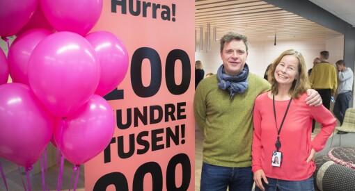 Aftenposten kan juble for 100.000 heldigitale abonnenter: – Vi har nådd en milepæl, sier Espen Egil Hansen