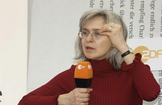 Ble drept: Journalist Anna Politkovskaja i den russiske avisen Novaja Gazeta.