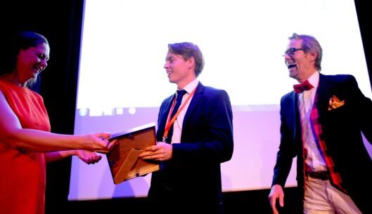 Bård Borch Michalsen (t.h.) under Svarte Natta-konferansen 2017.